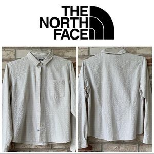 Large North Face Women's Off White Top